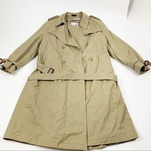 John Weitz Tan Double Breasted Belted Trench Coat